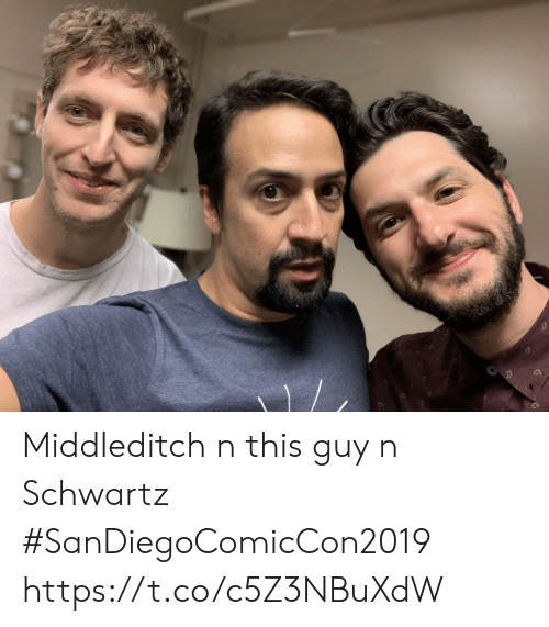 Schwartz: Middleditch n this guy n Schwartz  #SanDiegoComicCon2019 https://t.co/c5Z3NBuXdW