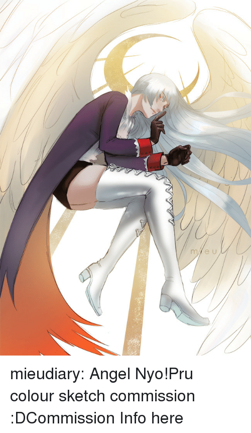 Google, Target, and Tumblr: mieudiary:  Angel Nyo!Pru colour sketch commission :DCommission Info here
