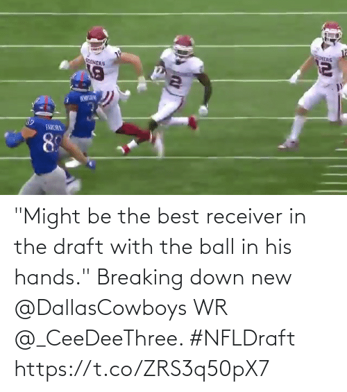 "draft: ""Might be the best receiver in the draft with the ball in his hands.""  Breaking down new @DallasCowboys WR @_CeeDeeThree. #NFLDraft https://t.co/ZRS3q50pX7"