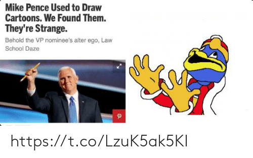School, Cartoons, and Law School: Mike Pence Used to Draw  Cartoons. We Found Them.  They're Strange  Behold the VP nominee's alter ego, Law  School Daze https://t.co/LzuK5ak5KI