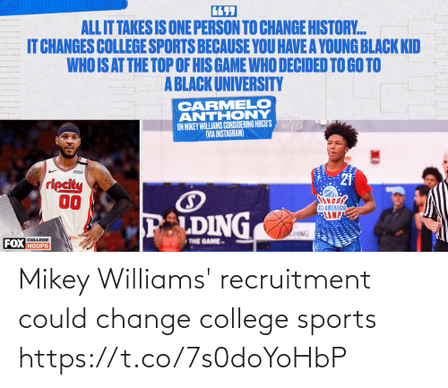 sports: Mikey Williams' recruitment could change college sports https://t.co/7s0doYoHbP