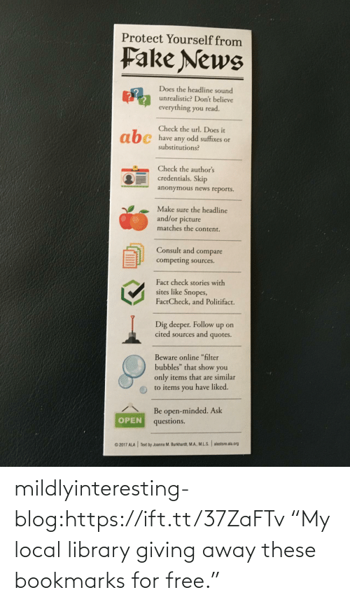 """Library: mildlyinteresting-blog:https://ift.tt/37ZaFTv """"My local library giving away these bookmarks for free."""""""