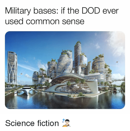 Memes, Common, and Science: Military bases: if the DOD ever  used common sense Science fiction 👨🏻‍🚀