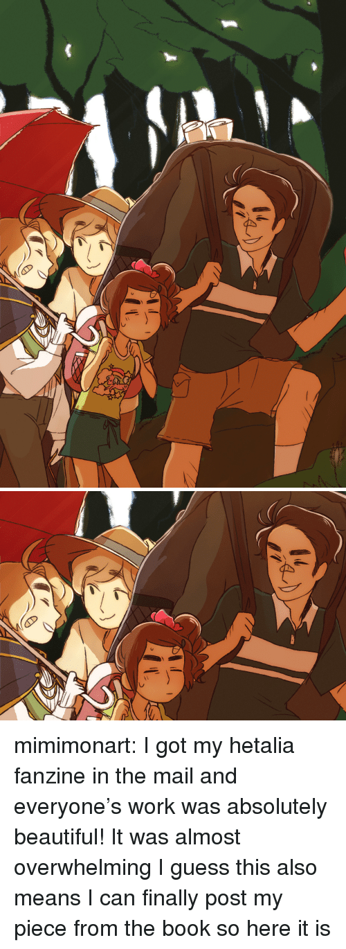 hetalia: mimimonart:  I got my hetalia fanzine in the mail and everyone's work was absolutely beautiful! It was almost overwhelmingI guess this also means I can finally post my piece from the book so here it is