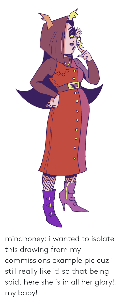 Target, Tumblr, and Blog: mindhoney:  i wanted to isolate this drawing from my commissions example pic cuz i still really like it! so that being said, here she is in all her glory!! my baby!