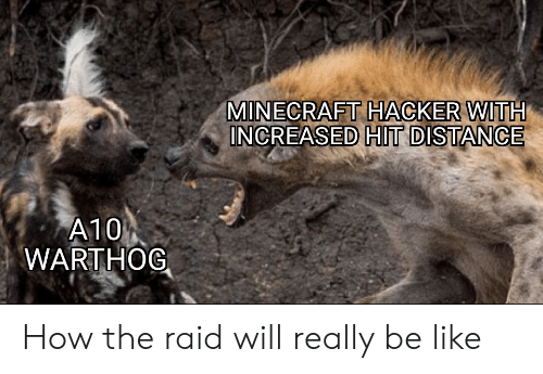 a10 warthog: MINECRAFT HACKER WITH  INCREASED HIT DISTANCE  A10  WARTHOG How the raid will really be like