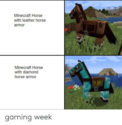 minecraft horse with leather horse armor minecraft horse with diamond