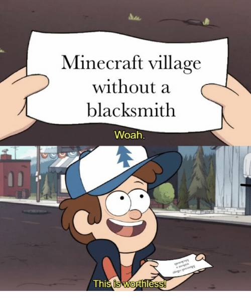Minecraft, Blacksmith, and Village: Minecraft village  without a  blacksmith  Woah  Thi  s is WOress  thl