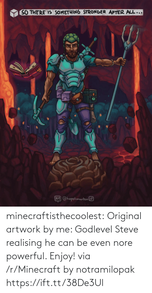 minecraft: minecraftisthecoolest:  Original artwork by me: Godlevel Steve realising he can be even nore powerful. Enjoy! via /r/Minecraft by notramilopak https://ift.tt/38De3Ul