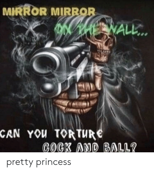 Mirror, Princess, and Dank Memes: MIRROR MIRROR  ALL..  CAN YOU TOR TURE  COCK AND BALL? pretty princess