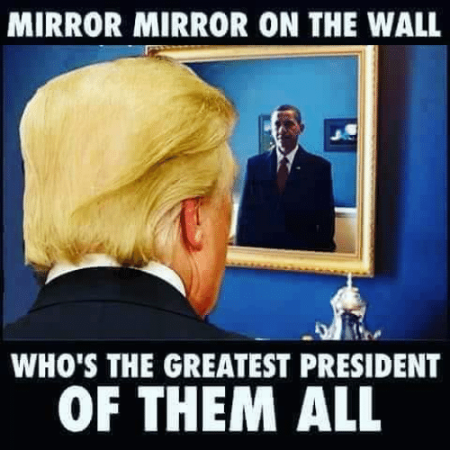 Mirror, The Wall, and President: MIRROR MIRROR ON THE WALL  WHO'S THE GREATEST PRESIDENT  OF THEM ALL