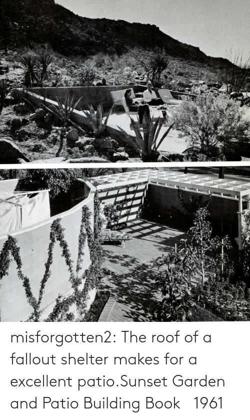Excellent: misforgotten2:  The roof of a fallout shelter makes for a excellent patio.Sunset Garden and Patio Building Book   1961