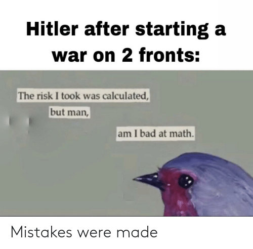 Mistakes: Mistakes were made