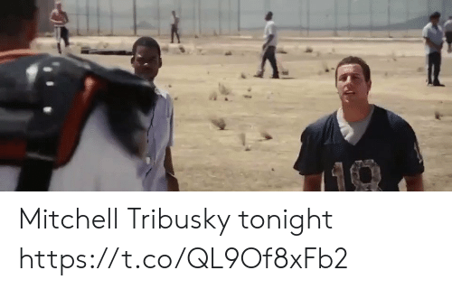 Football, Nfl, and Sports: Mitchell Tribusky tonight https://t.co/QL9Of8xFb2