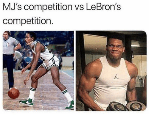 Mjs,  Competition, and Lebrons: MJ's competition vs LeBron's  competition.