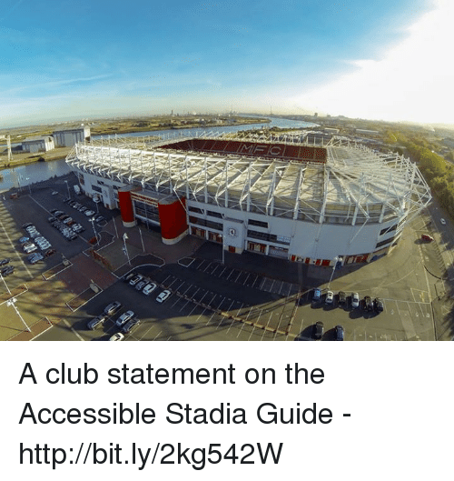 guid: mmm A club statement on the Accessible Stadia Guide - http://bit.ly/2kg542W