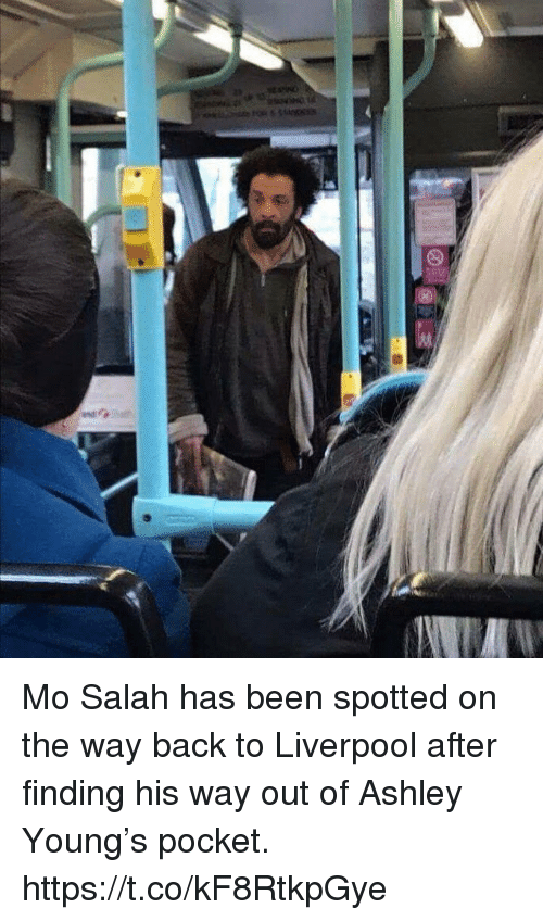 Soccer, Liverpool F.C., and Back: Mo Salah has been spotted on the way back to Liverpool after finding his way out of Ashley Young's pocket. https://t.co/kF8RtkpGye