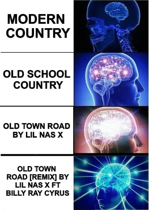 Nas, School, and Old: MODERN  COUNTRY  OLD SCHOOL  COUNTRY  OLD TOWN ROAD  BY LIL NAS X  OLD TOWN  ROAD [REMIX] BY  LIL NAS X FT  BILLY RAY CYRUS