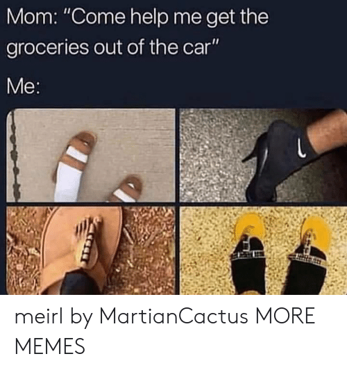 "Dank, Memes, and Target: Mom: ""Come help me get the  groceries out of the car  Me meirl by MartianCactus MORE MEMES"