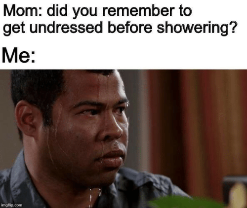 Did You: Mom: did you remember to  get undressed before showering?  Me:  imgflip.com