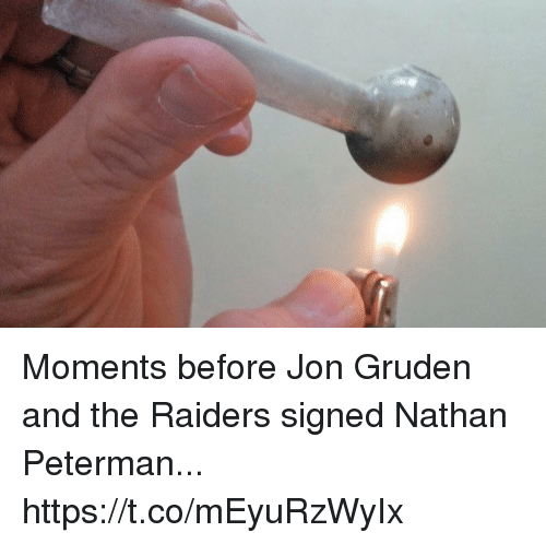 Gruden: Moments before Jon Gruden and the Raiders signed Nathan Peterman... https://t.co/mEyuRzWyIx