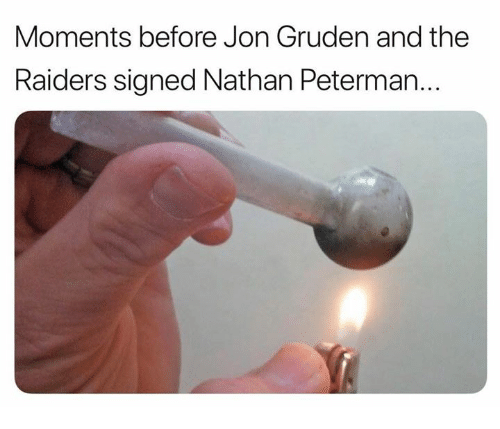Gruden: Moments before Jon Gruden and the  Raiders signed Nathan Peterman...