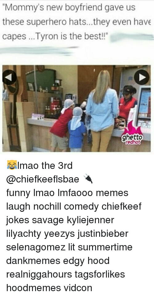 """Funny, Ghetto, and Lit: Mommy's new boyfriend gave us  these superhero hats..they even have  capes Tyron is the best!!""""  ghetto  redhot 😹lmao the 3rd @chiefkeeflsbae 🔌 ⠀ ⠀⠀ ⠀ ⠀⠀ ⠀ ⠀ funny lmao lmfaooo memes laugh nochill comedy chiefkeef jokes savage kyliejenner lilyachty yeezys justinbieber selenagomez lit summertime dankmemes edgy hood realniggahours tagsforlikes hoodmemes vidcon"""