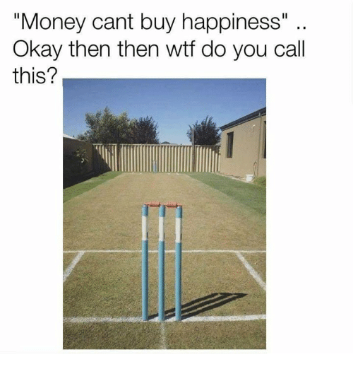 """Money, Wtf, and Okay: """"Money cant buy happiness""""  Okay then then wtf do you call  this?"""