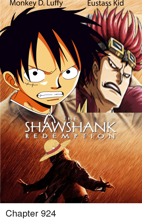 Monkey D Luffy Eustass Kid Shsank Red E Mtion Monkey Meme
