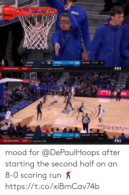 8 0: mood for @DePaulHoops after starting the second half on an 8-0 scoring run 🕺 https://t.co/xiBmCav74b
