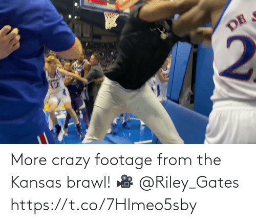 more: More crazy footage from the Kansas brawl!   🎥 @Riley_Gates https://t.co/7Hlmeo5sby