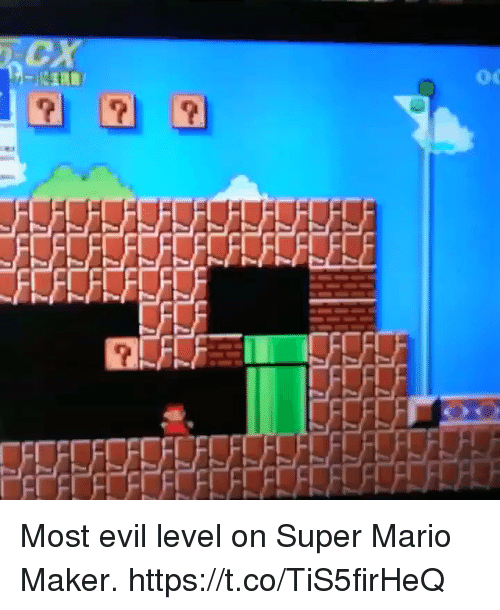 mario maker: Most evil level on Super Mario Maker. https://t.co/TiS5firHeQ