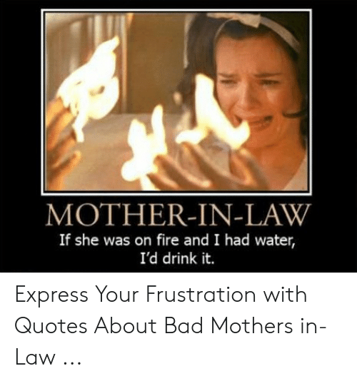 MOTHER-IN-LAW if She Was on Fire and I Had Water I\'d Drink ...