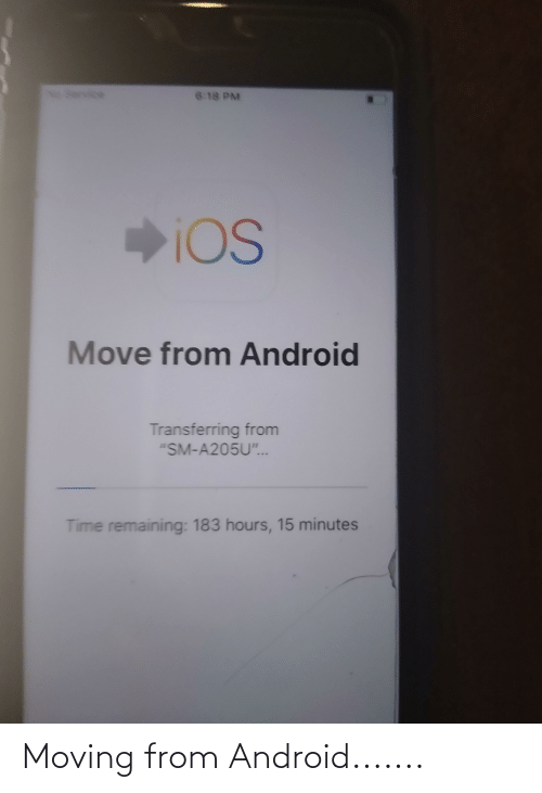 Android: Moving from Android.......