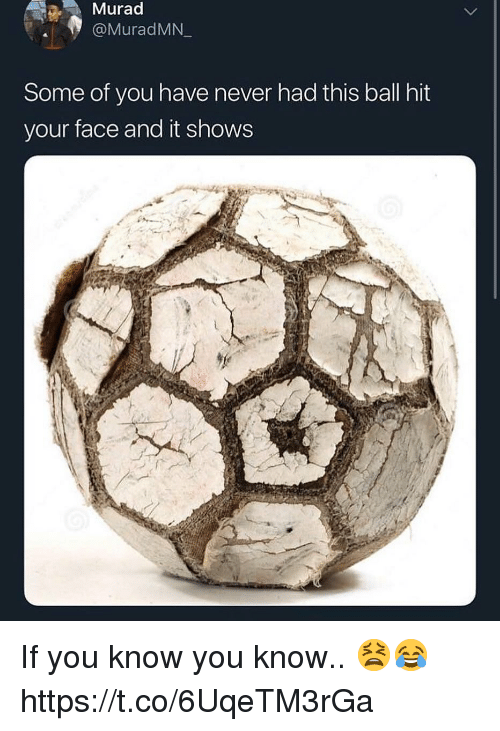Never, Face, and You: Murac  @MuradMN  Some of you have never had this ball hit  your face and it shows If you know you know.. 😫😂 https://t.co/6UqeTM3rGa