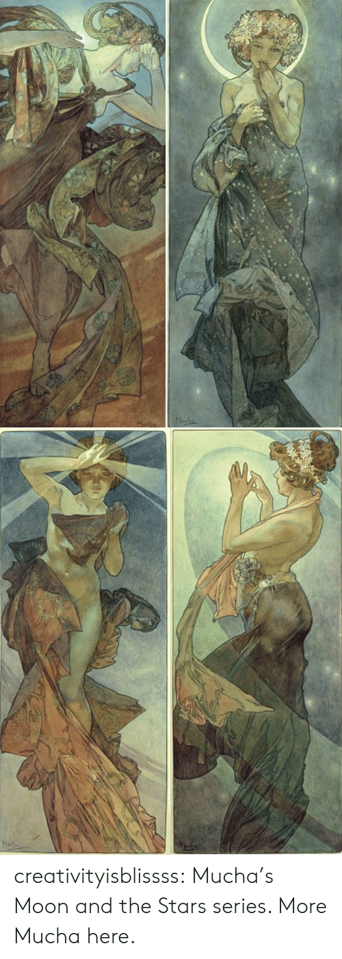 Tumblr, Blog, and Http: Musbs   Mut creativityisblissss:  Mucha's Moon and the Stars series. More Mucha here.