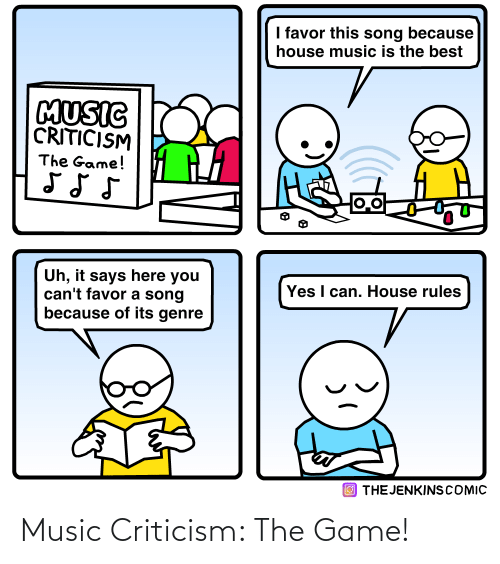 Criticism: Music Criticism: The Game!