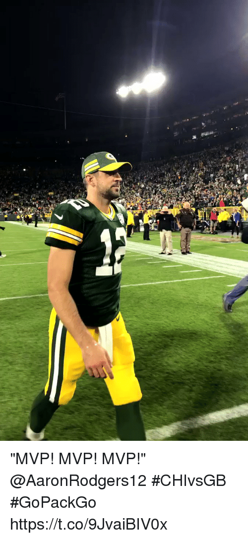 "Memes, 🤖, and Mvp: ""MVP! MVP! MVP!""  @AaronRodgers12 #CHIvsGB #GoPackGo https://t.co/9JvaiBIV0x"
