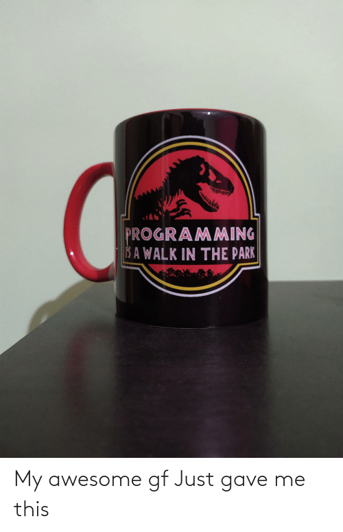Awesome: My awesome gf Just gave me this