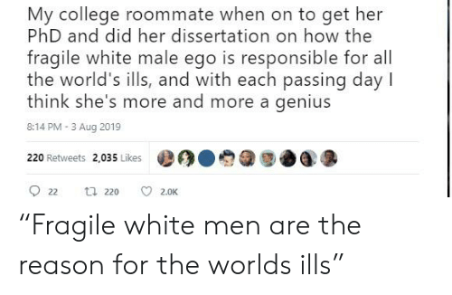 The fragile male ego