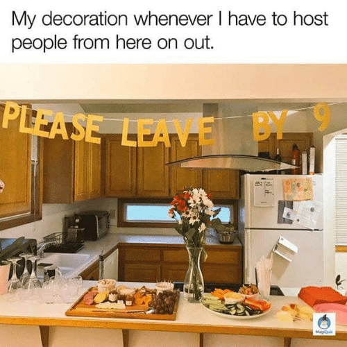 Decoration: My decoration whenever l have to host  people from here on out.  E BY 9