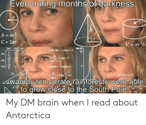 Antarctica: My DM brain when I read about Antarctica