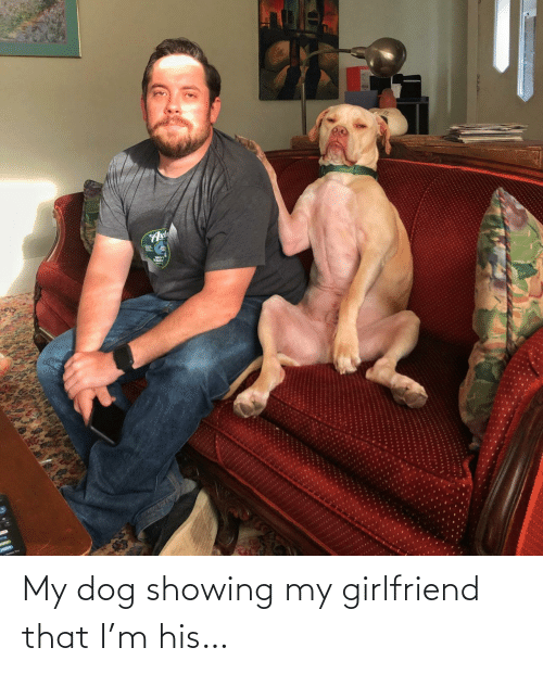 Girlfriend: My dog showing my girlfriend that I'm his…
