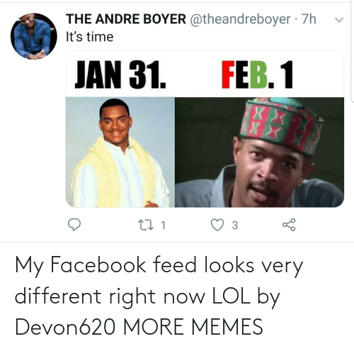 Feed: My Facebook feed looks very different right now LOL by Devon620 MORE MEMES