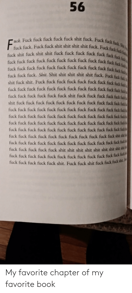 Book: My favorite chapter of my favorite book