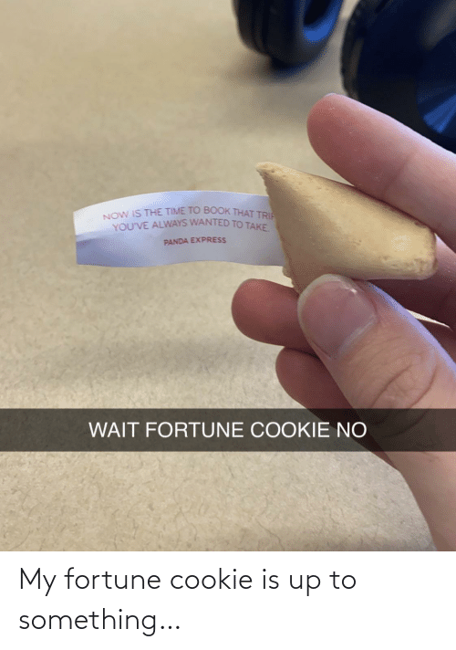 cookie: My fortune cookie is up to something…