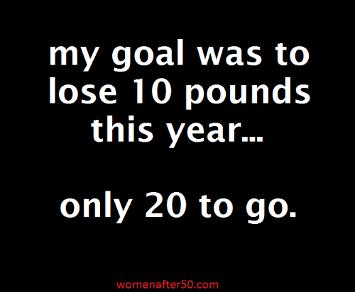 Memes, Goal, and 🤖: my goal was to  lose 10 pounds  this year...  only 20 to go.  womenafter50.com