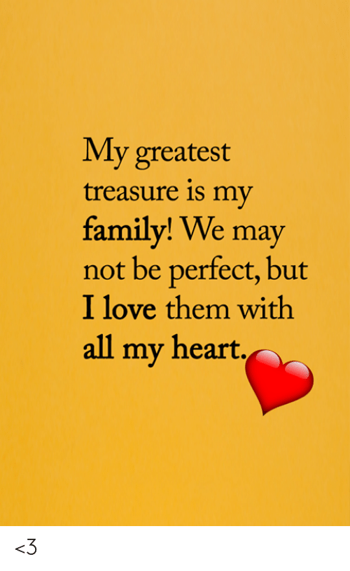 Family, Love, and Memes: My greatest  treasure is my  family! We may  not be perfect, but  I love them with  all my heart. <3