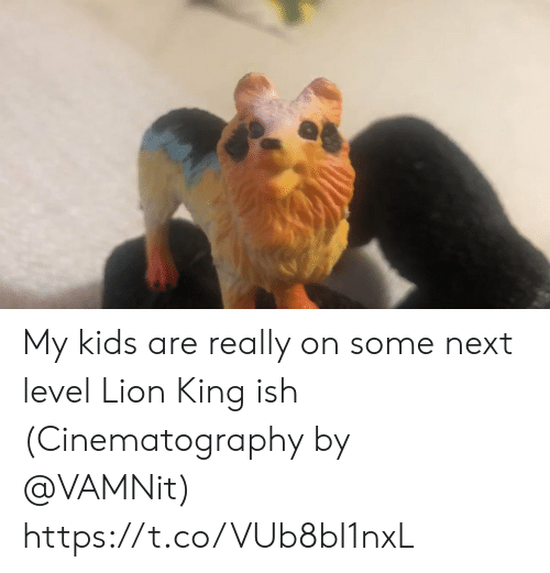 Lion King: My kids are really on some next level Lion King ish (Cinematography by @VAMNit) https://t.co/VUb8bI1nxL