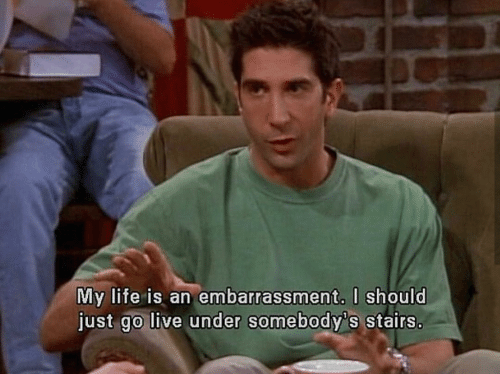 Life, Live, and Just: My life is an embarrassment. l should  just go live under somebody's stairs